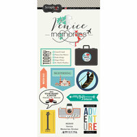 Scrapbook Customs - Travel Adventure Collection - Cardstock Stickers - Venice Memories