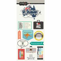 Scrapbook Customs - Travel Adventure Collection - Cardstock Stickers - Sydney Memories