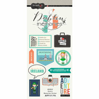 Scrapbook Customs - Travel Adventure Collection - Cardstock Stickers - Dublin Memories