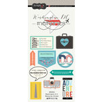 Scrapbook Customs - Travel Adventure Collection - Cardstock Stickers - Washington D.C. Memories