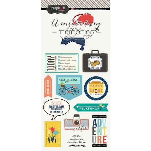 Scrapbook Customs - Travel Adventure Collection - Cardstock Stickers - Amsterdam Memories