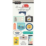 Scrapbook Customs - Travel Adventure Collection - Cardstock Stickers - Amsterdam Memories