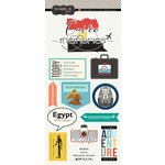 Scrapbook Customs - Travel Adventure Collection - Cardstock Stickers - Cairo Memories