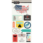 Scrapbook Customs - Travel Adventure Collection - Cardstock Stickers - Anaheim Memories