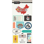 Scrapbook Customs - Travel Adventure Collection - Cardstock Stickers - Beijing Memories