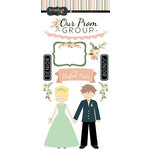 Scrapbook Customs - School Dance Collection - Cardstock Stickers - Perfect Prom