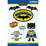 Scrapbook Customs - Inspired By Collection - Cardstock Stickers - Bat Superhero
