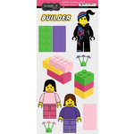 Scrapbook Customs - Master Builder Collection - Cardstock Stickers - Building Block Girl Figure