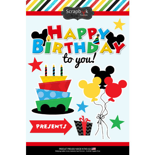 Scrapbook Customs - Inspired By Collection - Cardstock Stickers - Magical Birthday