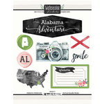 Scrapbook Customs - Cardstock Stickers - Alabama Watercolor