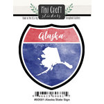 Scrapbook Customs - Cardstock Stickers - Mini Craft - Alaska Sign