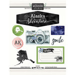 Scrapbook Customs - Cardstock Stickers - Alaska Watercolor
