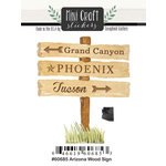Scrapbook Customs - Cardstock Stickers - Mini Craft - Arizona Wood Sign
