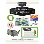 Scrapbook Customs - Cardstock Stickers - Arizona Watercolor