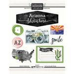 Scrapbook Customs - Cardstock Stickers - Arizona Watercolor