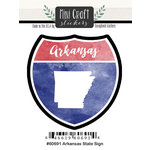 Scrapbook Customs - Cardstock Stickers - Mini Craft - Arkansas Sign
