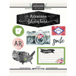 Scrapbook Customs - Cardstock Stickers - Arkansas Watercolor