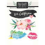 Scrapbook Customs - Cardstock Stickers - Mini Craft - California Love