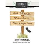 Scrapbook Customs - Cardstock Stickers - Mini Craft - California Wood Sign