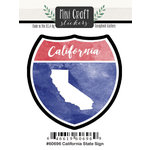 Scrapbook Customs - Cardstock Stickers - Mini Craft - California Sign