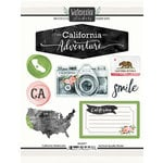 Scrapbook Customs - Cardstock Stickers - California Watercolor