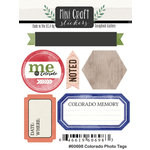 Scrapbook Customs - Cardstock Stickers - Mini Craft - Colorado Photo Tags