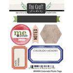 Scrapbook Customs - Cardstock Stickers - Mini Craft - Colorado Photo Tags