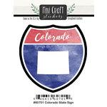 Scrapbook Customs - Cardstock Stickers - Mini Craft - Colorado Sign