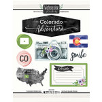 Scrapbook Customs - Cardstock Stickers - Colorado Watercolor