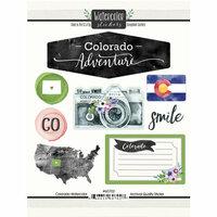 Scrapbook Customs - Cardstock Stickers - Colorado Watercolor