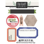Scrapbook Customs - Cardstock Stickers - Mini Craft - Connecticut Photo Tags