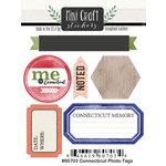 Scrapbook Customs - Cardstock Stickers - Mini Craft - Connecticut Photo Tags