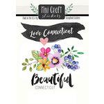 Scrapbook Customs - Cardstock Stickers - Mini Craft - Connecticut Love