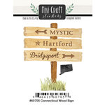 Scrapbook Customs - Cardstock Stickers - Mini Craft - Connecticut Wood Sign