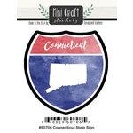 Scrapbook Customs - Cardstock Stickers - Mini Craft - Connecticut Sign