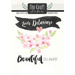 Scrapbook Customs - Cardstock Stickers - Mini Craft - Delaware Love