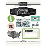 Scrapbook Customs - Cardstock Stickers - Delaware Watercolor