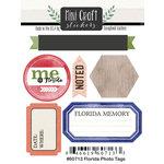 Scrapbook Customs - Cardstock Stickers - Mini Craft - Florida Photo Tags