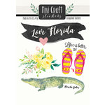 Scrapbook Customs - Cardstock Stickers - Mini Craft - Florida Love