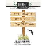 Scrapbook Customs - Cardstock Stickers - Mini Craft - Florida Wood Sign