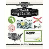 Scrapbook Customs - Cardstock Stickers - Florida Watercolor