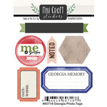 Scrapbook Customs - Cardstock Stickers - Mini Craft - Georgia Photo Tags