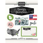 Scrapbook Customs - Cardstock Stickers - Georgia Watercolor