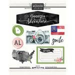 Scrapbook Customs - Cardstock Stickers - Georgia Watercolor