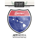 Scrapbook Customs - Cardstock Stickers - Mini Craft - Hawaii Sign