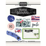 Scrapbook Customs - Cardstock Stickers - Hawaii Watercolor