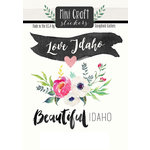 Scrapbook Customs - Cardstock Stickers - Mini Craft - Idaho Love