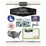 Scrapbook Customs - Cardstock Stickers - Idaho Watercolor