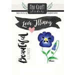 Scrapbook Customs - Cardstock Stickers - Mini Craft - Illinois Love
