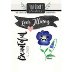 Scrapbook Customs - Cardstock Stickers - Mini Craft - Illinois Love